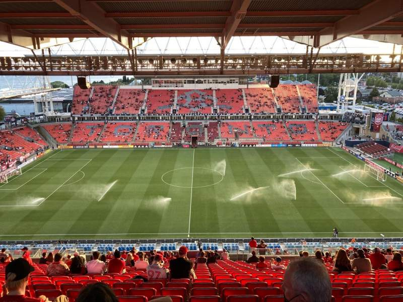 Seating view for BMO Field Section 207 Row 29 Seat 16
