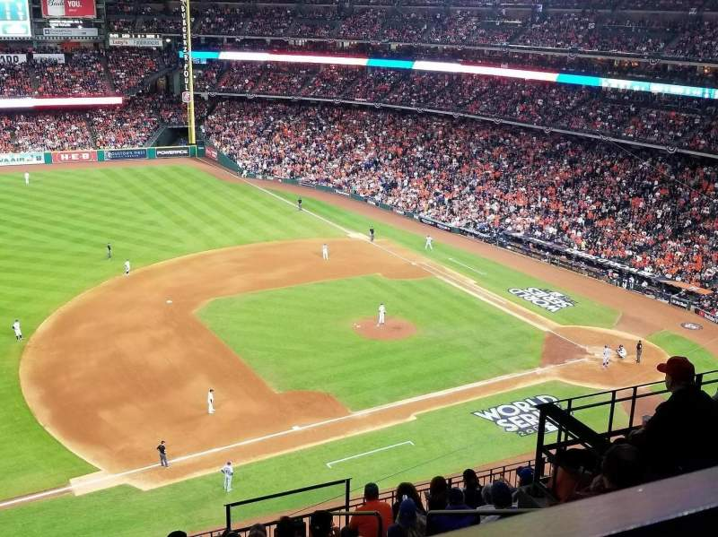 Seating view for Minute Maid Park Section 410 Row 1 Seat 21