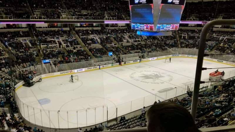Seating view for SAP Center Section 218 Row 2 Seat 4