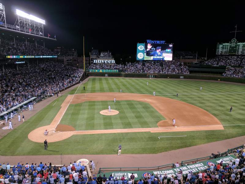 Seating view for Wrigley Field Section 324R Row 1 Seat 3