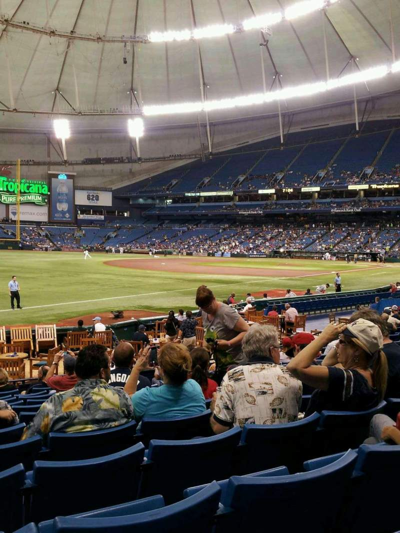 Seating view for Tropicana Field Section 133 Row T Seat 9
