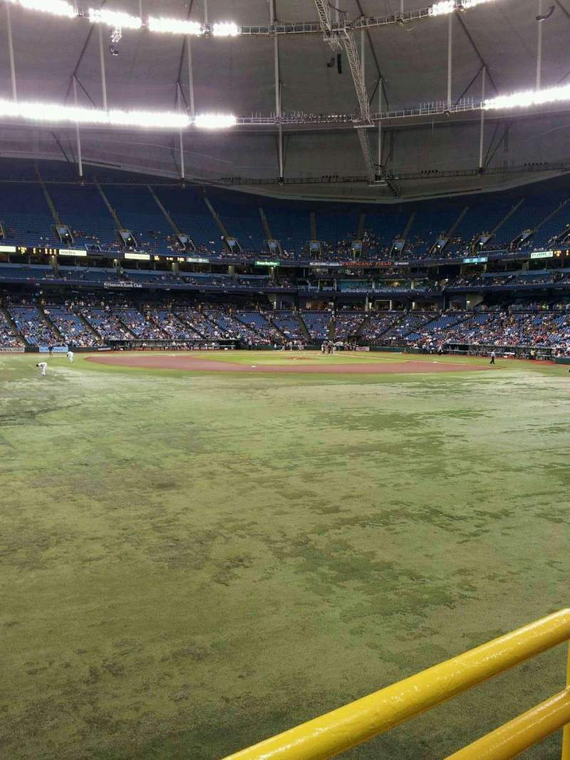 Seating view for Tropicana Field Section Center Field