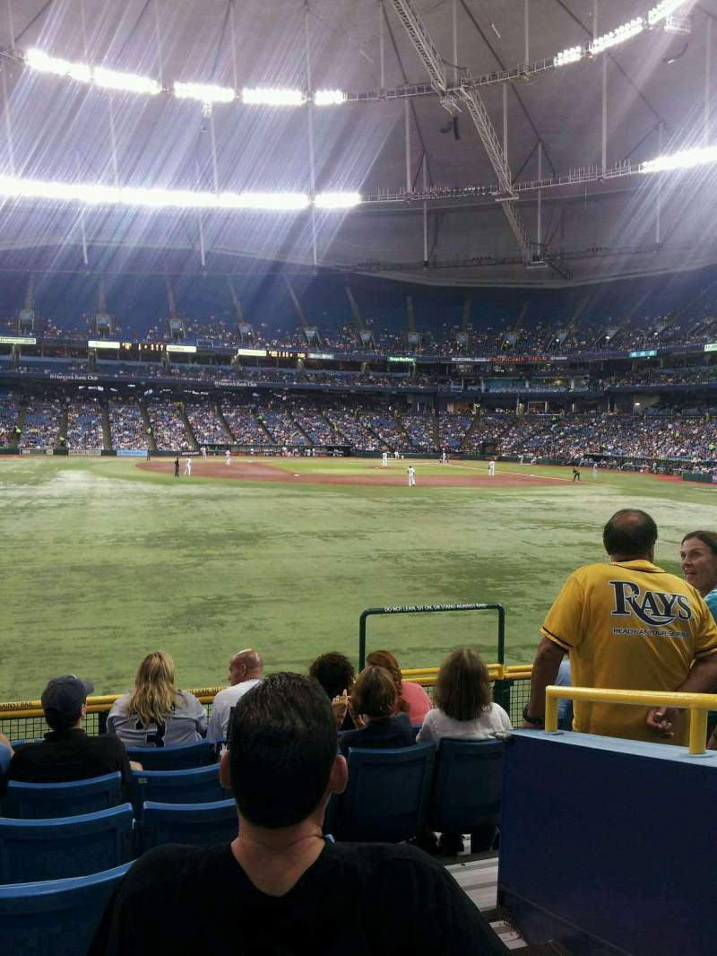 Seating view for Tropicana Field Section 147 Row AA Seat 19