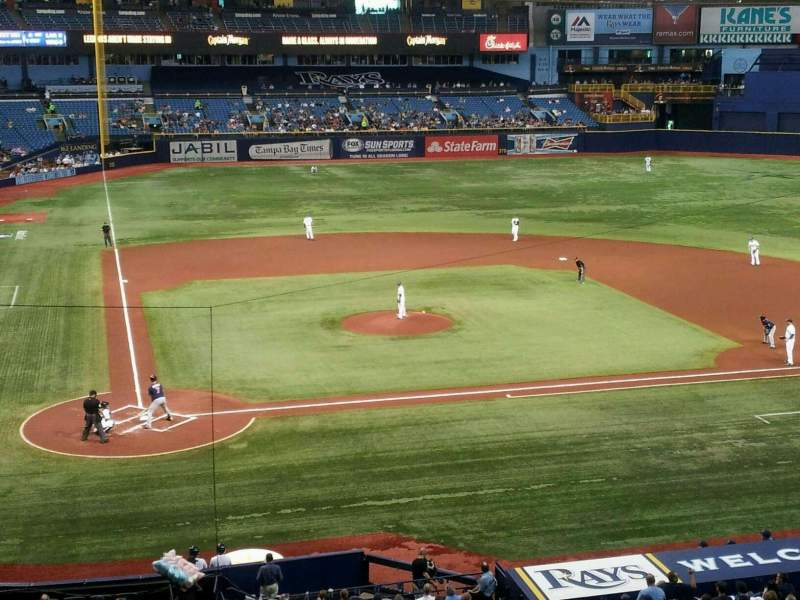 Seating view for Tropicana Field Section 208 Row A Seat 5
