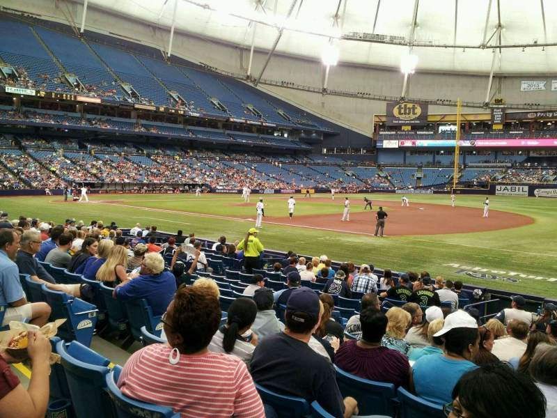Seating view for Tropicana Field Section 126 Row Q Seat 7