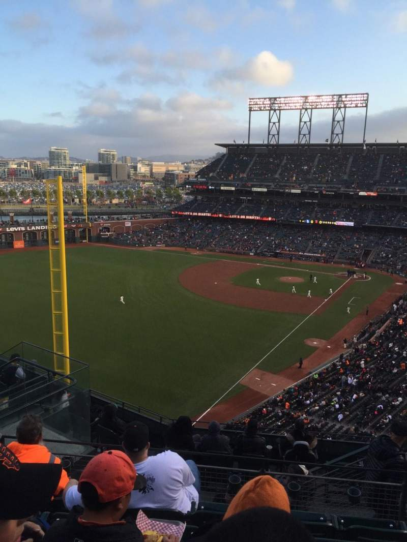 Seating view for Oracle Park Section VR334 Row 5 Seat 6