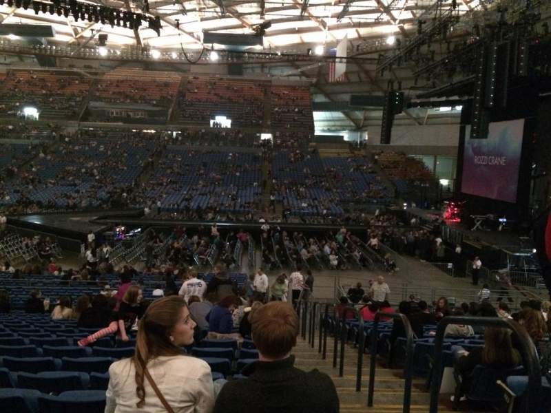 Seating view for Tacoma Dome Section 8A Row 33 Seat 1