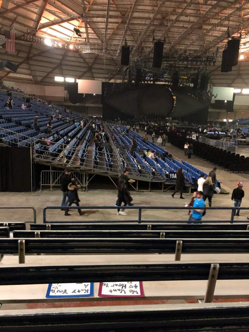 Tacoma Dome, section: 1A, row: 21, seat: 24