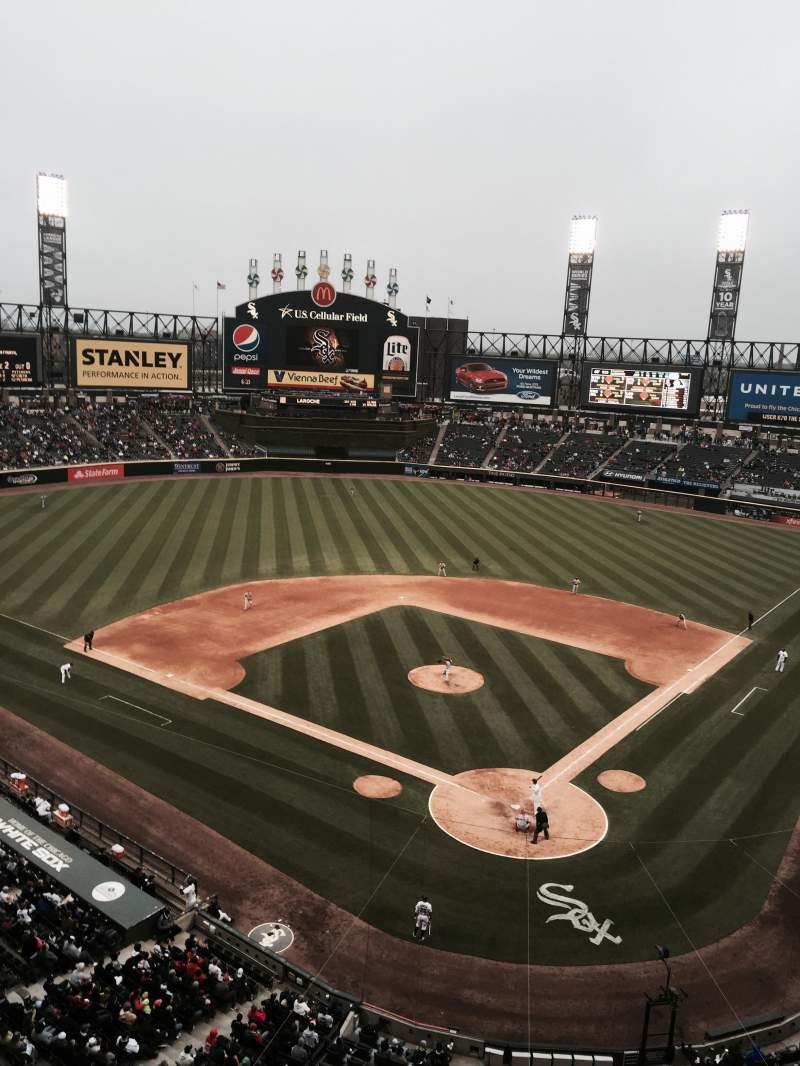 Seating view for Guaranteed Rate Field Section 534 Row 1 Seat 7