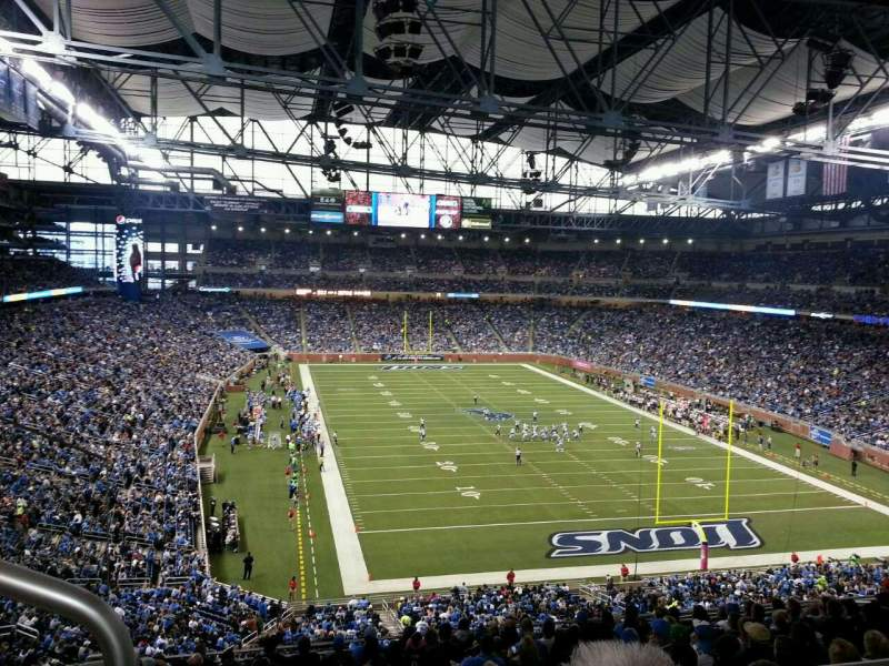 Seating view for Ford Field Section 316 Row 15 Seat 2