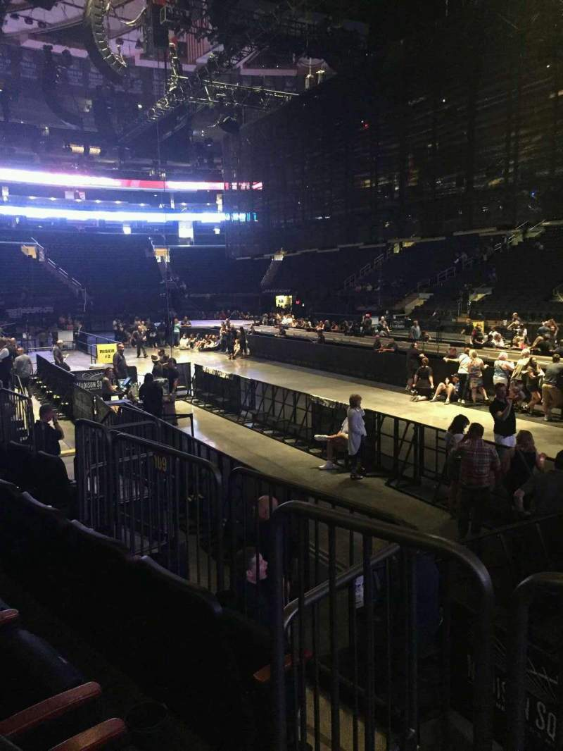 Seating view for Madison Square Garden Section 109 Row 5 Seat 13