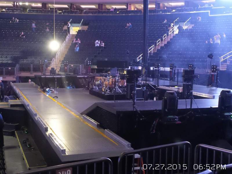 Seating view for Madison Square Garden Section 109 Row 6 Seat 3
