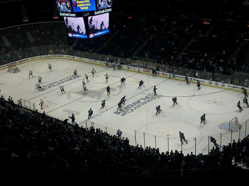 Seating view for Scottrade Center Section 333 Row M Seat 5
