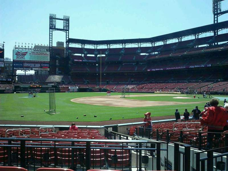 Seating view for Busch Stadium Section 161 Row 4 Seat 1