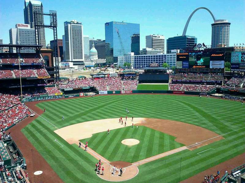 Seating view for Busch Stadium Section 350 Row 1 Seat 11