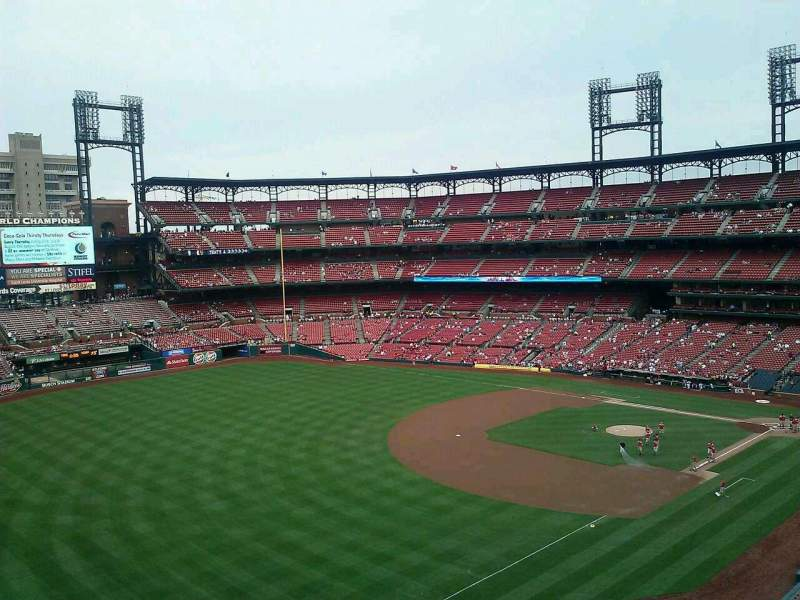Seating view for Busch Stadium Section 365 Row 1 Seat 18
