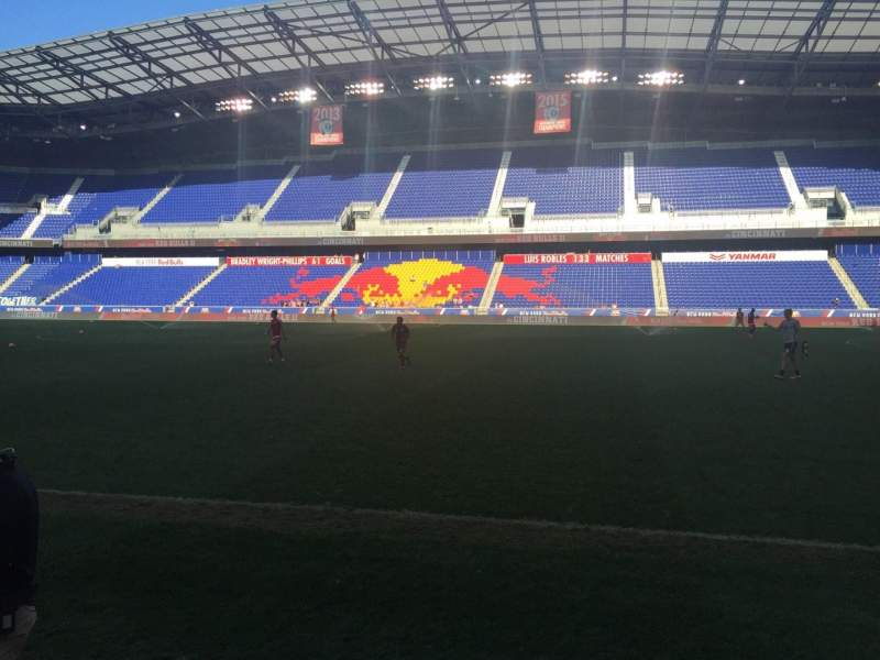 Seating view for Red Bull Arena Section 108 Row 1