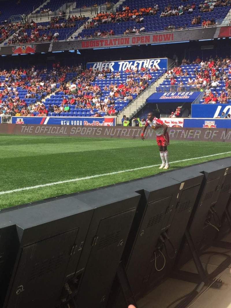 Seating view for Red Bull Arena Section 124f Row 1 Seat 19