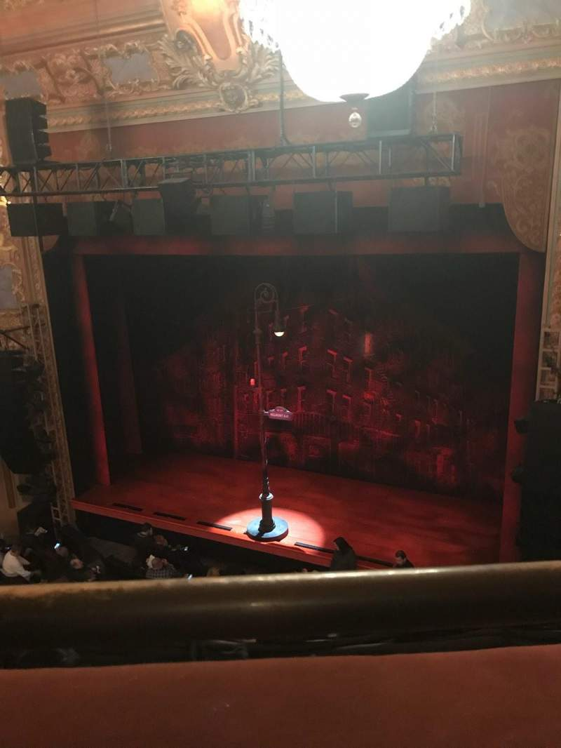 Seating view for Longacre Theatre Section Balcony R Row A Seat 5