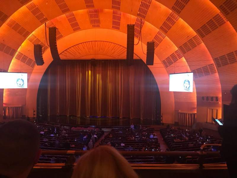 Seating view for Radio City Music Hall Section 1st Mezzanine 3 Row C Seat 302