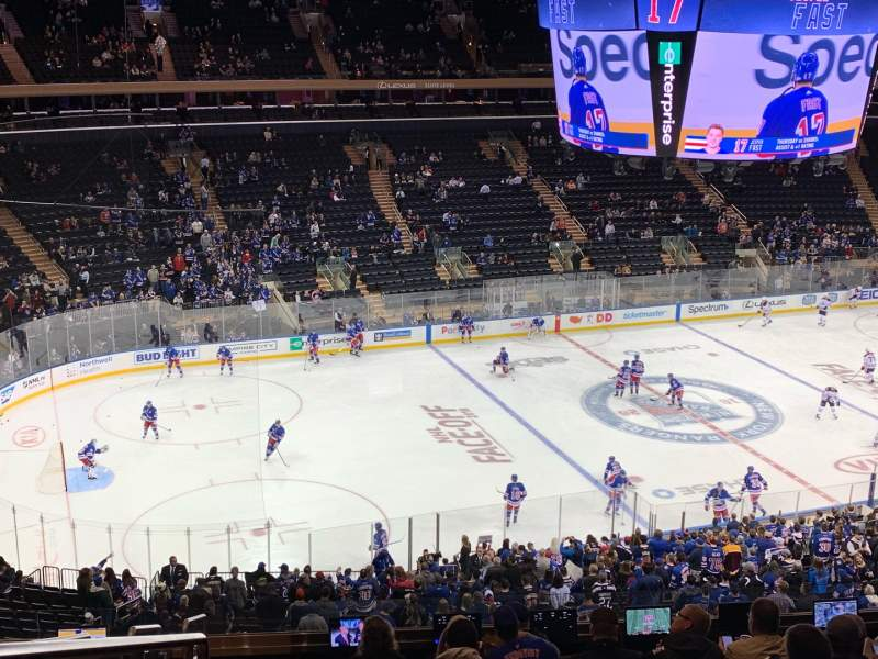 Seating view for Madison Square Garden Section 209 Row 12 Seat 2