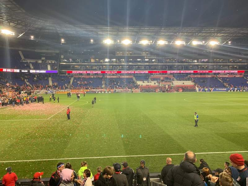 Seating view for Red Bull Arena Section 128 Row 9 Seat 1