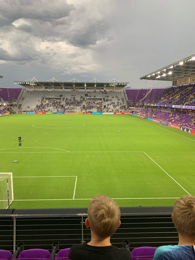 Seating view for Exploria Stadium Section 103 Row D Seat 18
