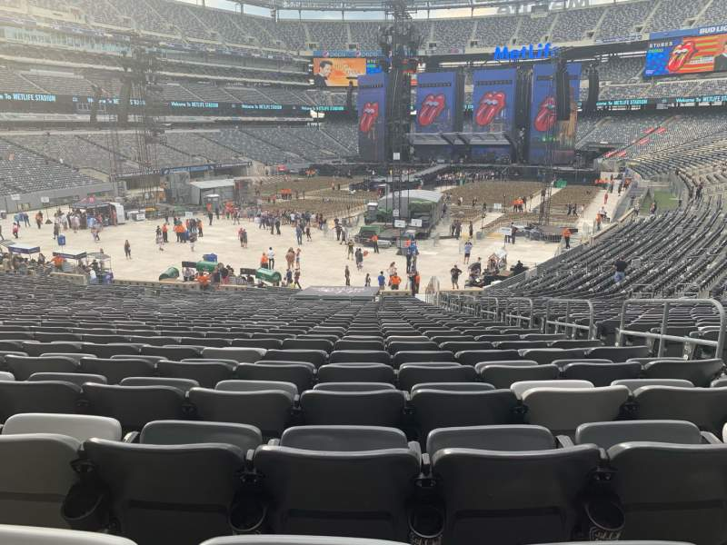 Seating view for MetLife Stadium Section 123 Row 35 Seat 1