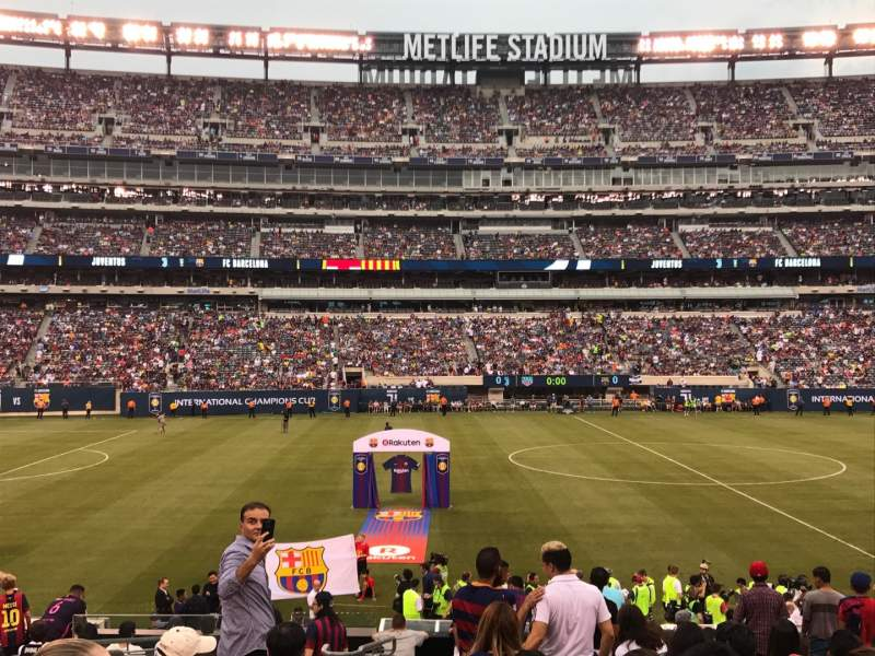 Seating view for MetLife Stadium Section 114 Row 15 Seat 11
