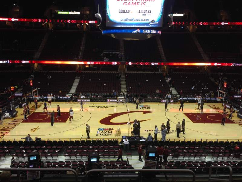 Seating view for Quicken Loans Arena Section C108 Row 21 Seat 13