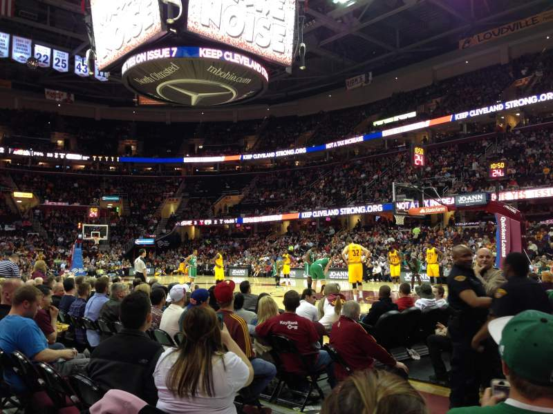 Seating view for Quicken Loans Arena Section 111 Row 3 Seat 1