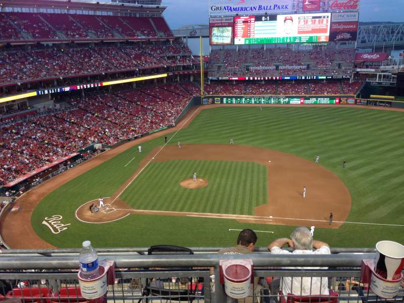 Seating view for Great American Ball Park Section 530 Row B Seat 14