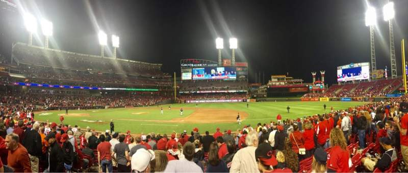 Seating view for Great American Ball Park Section 131 Row Q Seat 12