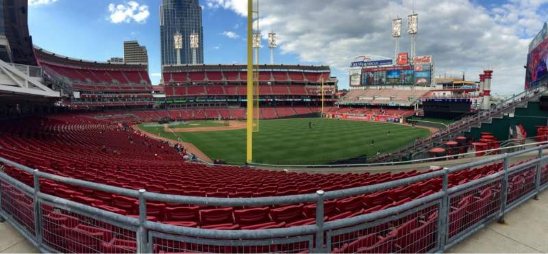 Seating view for Great American Ball Park Section SRO