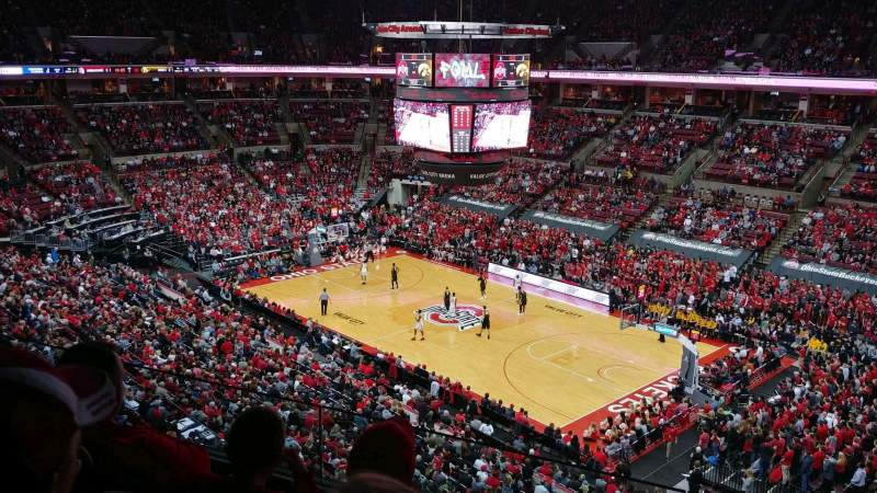 Seating view for Value City Arena Section 319 Row C Seat 3