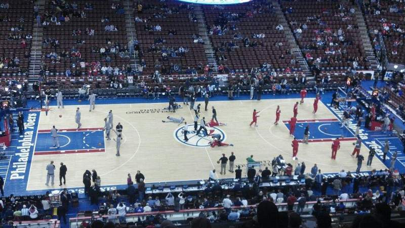 Seating view for Wells Fargo Center Section 214 Row 9