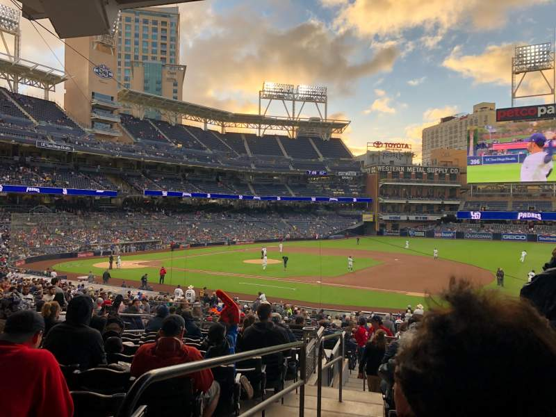 Seating view for PETCO Park Section 113 Row 37 Seat 1