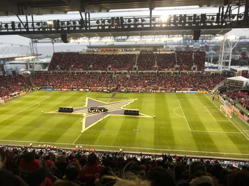 Seating view for BMO Field Section 206 Row 23 Seat 3
