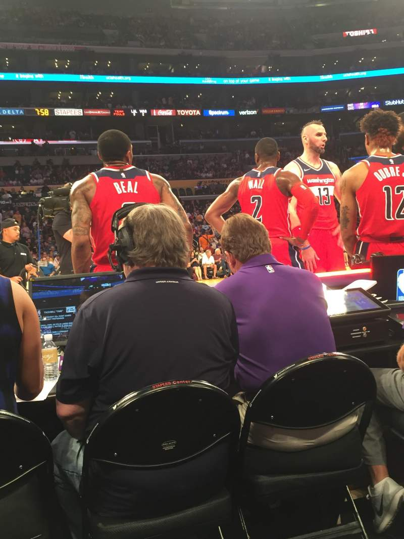 Seating view for Staples Center Section 101 Row A Seat 16-17