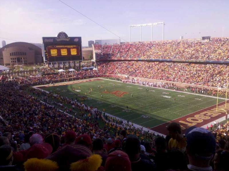 Seating view for TCF Bank Stadium Section 231 Row 27 Seat 23