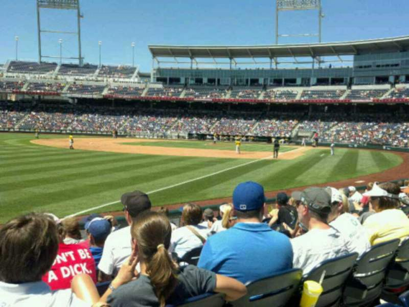 Seating view for TD Ameritrade Park Section 122 Row 10 Seat 17