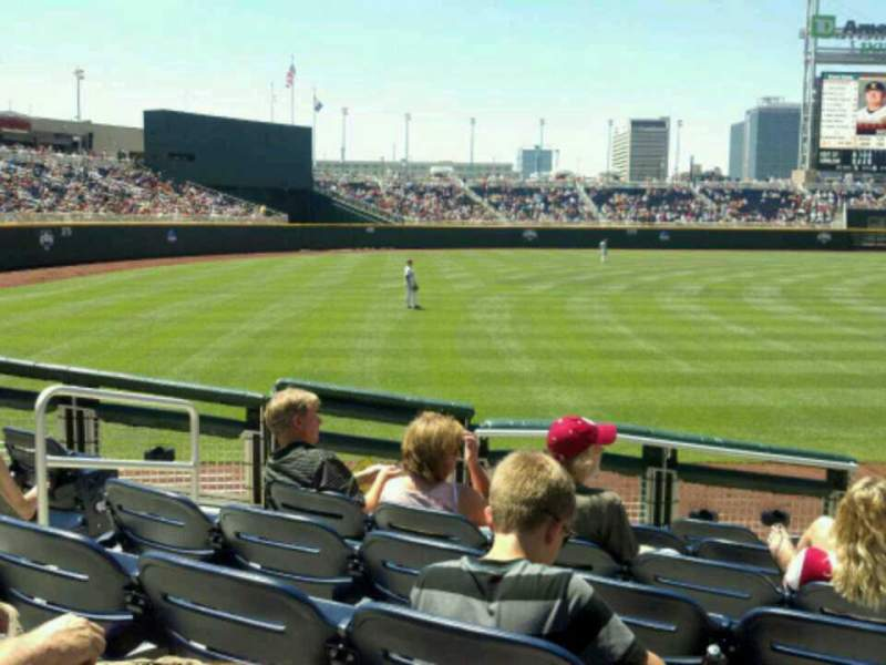Seating view for TD Ameritrade Park Section 122 Row 10 Seat 18