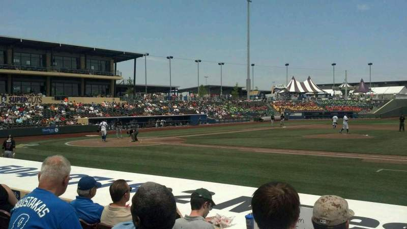 Seating view for Werner Park Section 108 Row 10 Seat 5