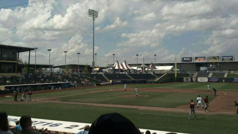 Seating view for Werner Park Section 107 Row 18 Seat 13