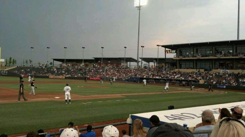 Seating view for Werner Park Section 120 Row 10 Seat 5