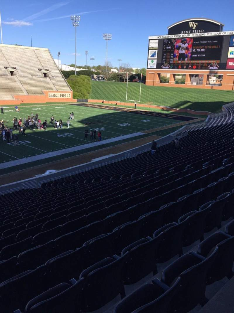 BB&T Field, section: 4, row: DD, seat: 17