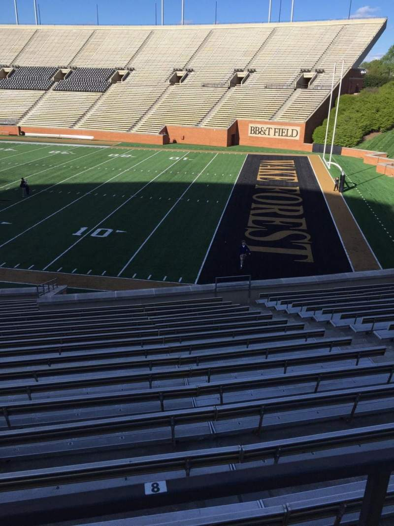 BB&T Field, section: 9, row: DD, seat: Handicapped