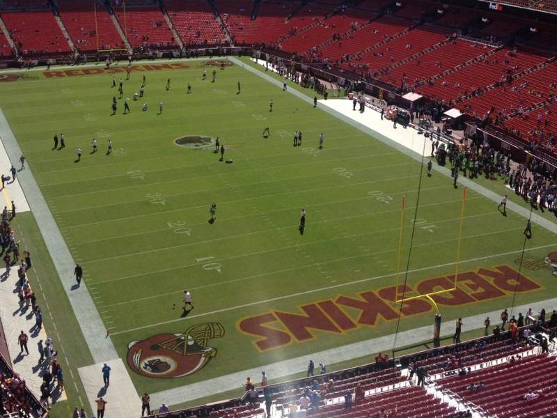Seating view for FedEx Field Section 417 Row 5 Seat 5