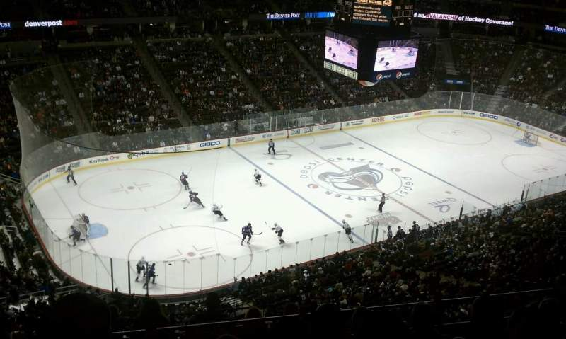Seating view for Pepsi Center Section 310 Row 11 Seat 11