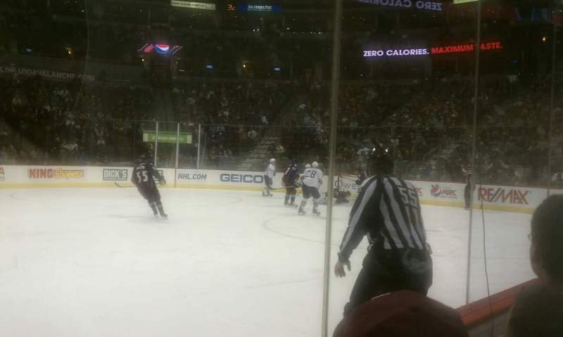 Seating view for Pepsi Center Section 124 Row 2 Seat 10
